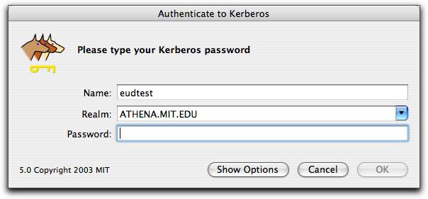 Using the Kerberos Application on Mac OS X